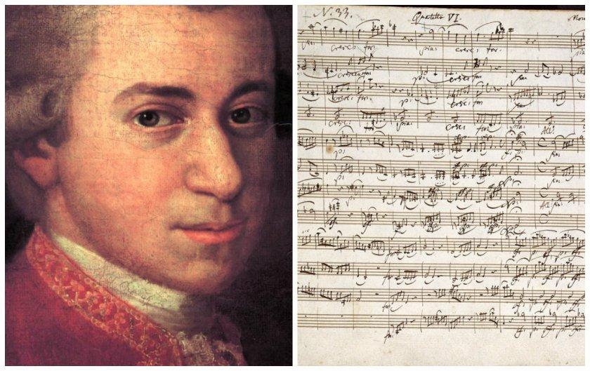 Продават на търг партитура на Моцарт