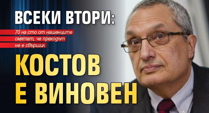Всеки втори: Костов е виновен