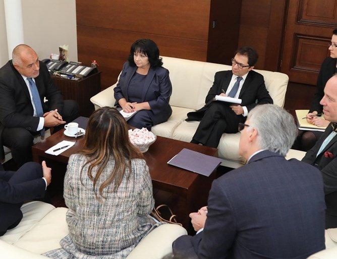 Борисов на среща с висш щатски чиновник по енергийни въпроси