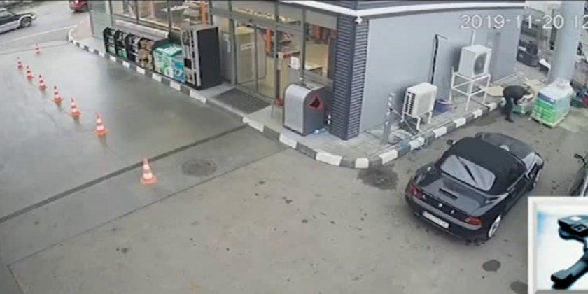 Дъно! Баровец краде антифриз на бензиностанция