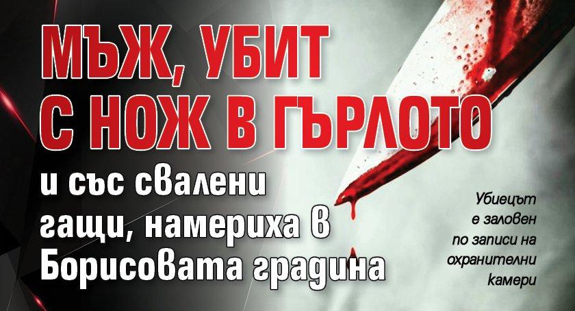 Мъж, убит с нож в гърлото и със свалени гащи, намериха в Борисовата градина
