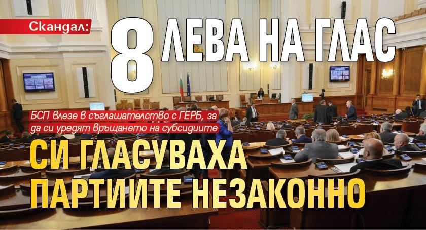Скандал: 8 лева на глас си гласуваха партиите незаконно