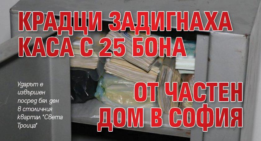 Крадци задигнаха каса с 25 бона от частен дом в София