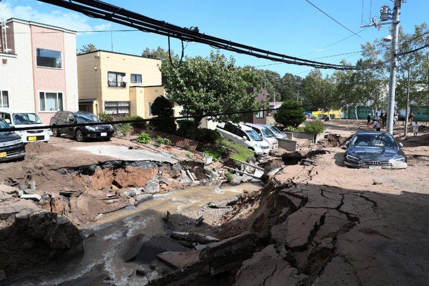 Силно земетресение разлюля Япония
