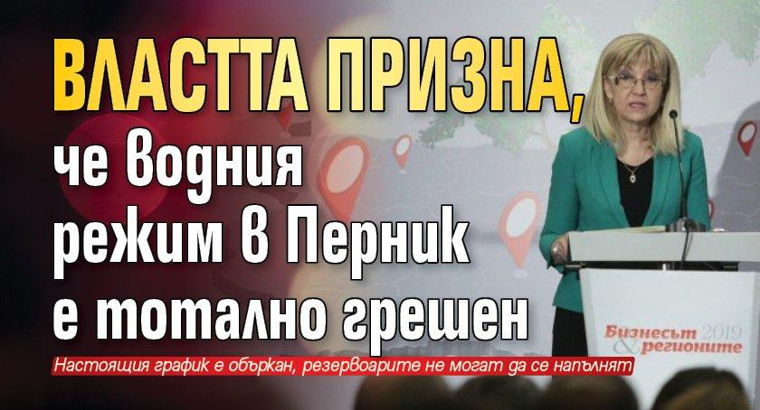 Властта призна, че водния режим в Перник е тотално грешен