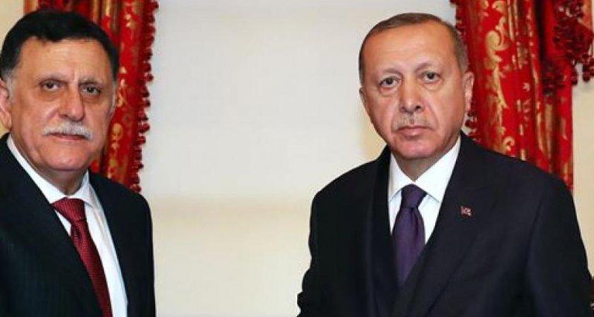 Турският президент прие премиера на Либия Файез Сарадж