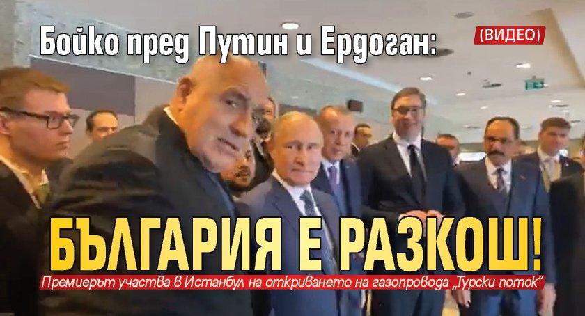 Бойко пред Путин и Ердоган: България е разкош! (ВИДЕО)