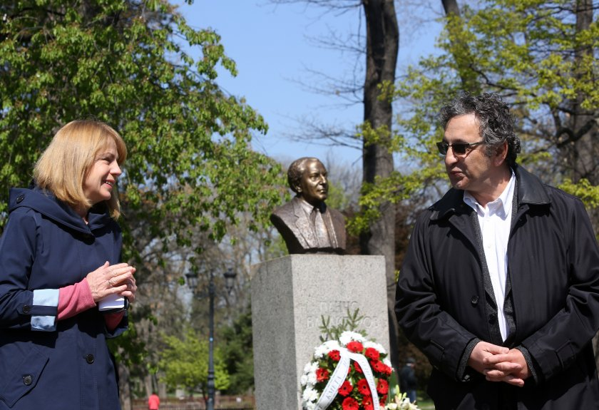 Откриха възстановения паметник на Панчо Владигеров
