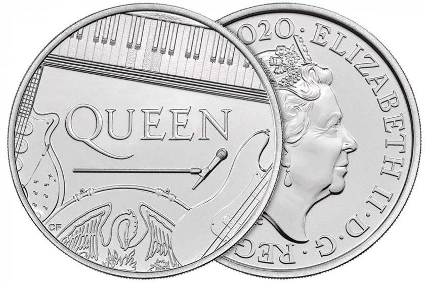 Queen - първата британска група с монета от Кралския монетен двор (СНИМКИ)