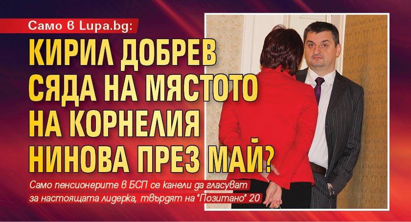 Само в Lupa.bg: Кирил Добрев сяда на мястото на Корнелия Нинова през май?