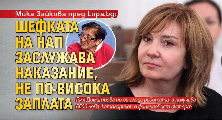 Мика Зайкова пред Lupa.bg: Шефката на НАП заслужава наказание, не по-висока заплата