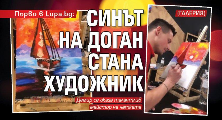 Първо в Lupa.bg: Синът на Доган стана художник (ГАЛЕРИЯ)