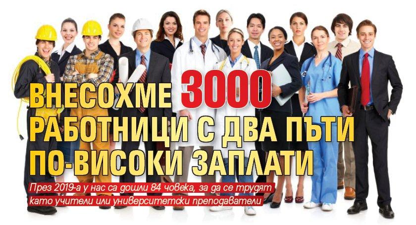 Внесохме 3000 работници с два пъти по-високи заплати