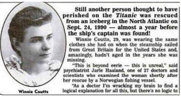 """Жив пътник от """"Титаник"""" открит върху айсберг през 1990 г."""