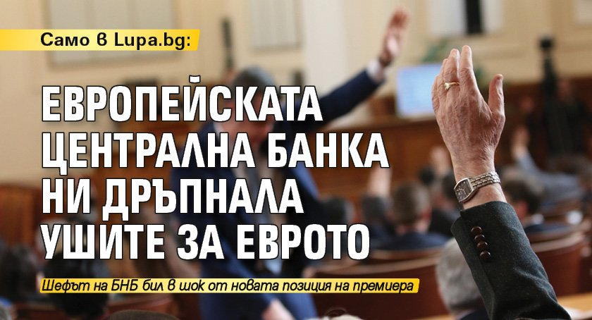 Само в Lupa.bg: Европейската централна банка ни дръпнала ушите за еврото