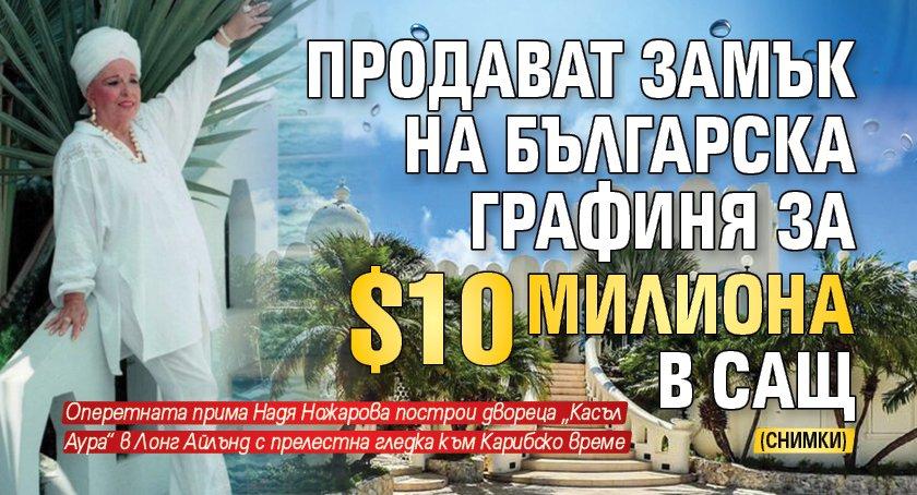 Продават замък на българска графиня за $10 милиона в САЩ (СНИМКИ)
