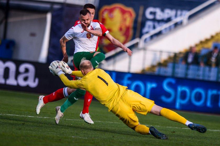 Старата песен с нов отбор: България падна 0:1 от Беларус