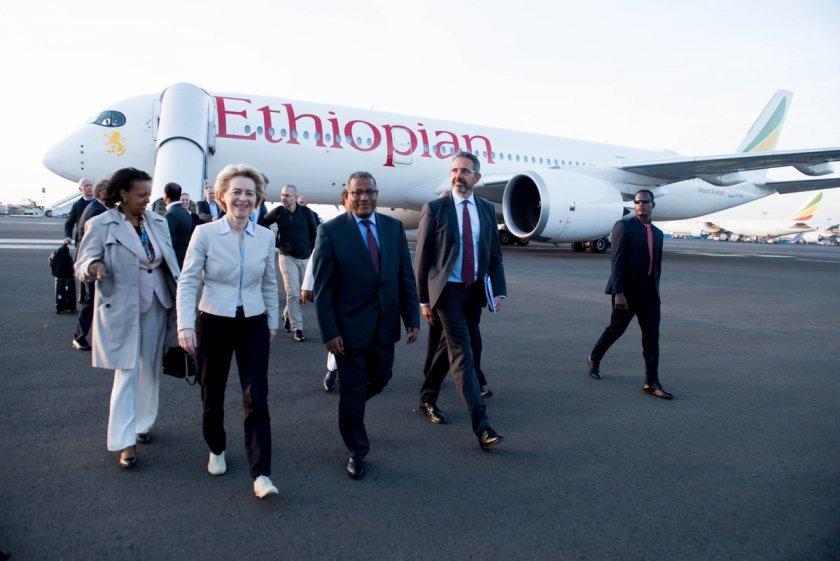 Фон дер Лайен обеща подкрепа за Африка