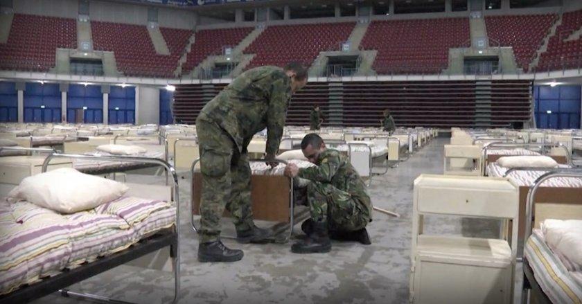 Военни тренират вдигането на полеви болници в два града