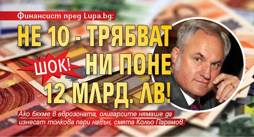 Шок! Финансист пред Lupa.bg: Не 10 - трябват ни поне 12 млрд. лв!