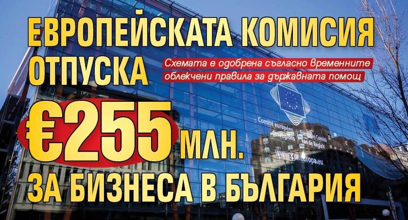 Европейската комисия отпуска €255 млн. за бизнеса в България