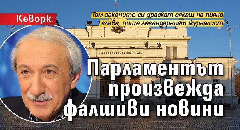 Кеворк: Парламентът произвежда фалшиви новини