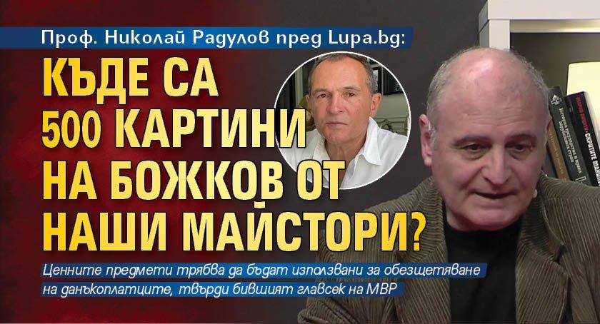Проф. Николай Радулов пред Lupa.bg: Къде са 500 картини на Божков от наши майстори?