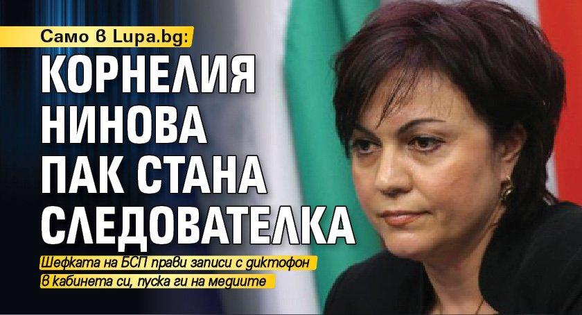 Само в Lupa.bg: Корнелия Нинова пак стана следователка