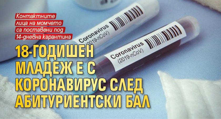 18-годишен младеж е с коронавирус след абитуриентски бал
