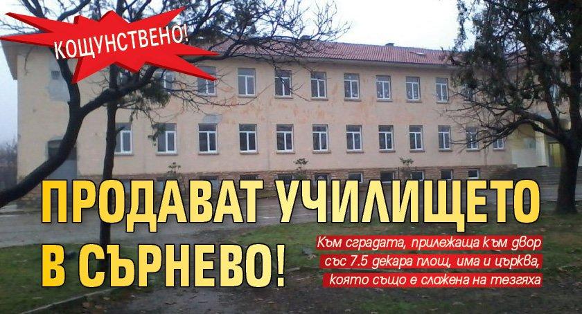 Кощунствено! Продават училището в Сърнево!