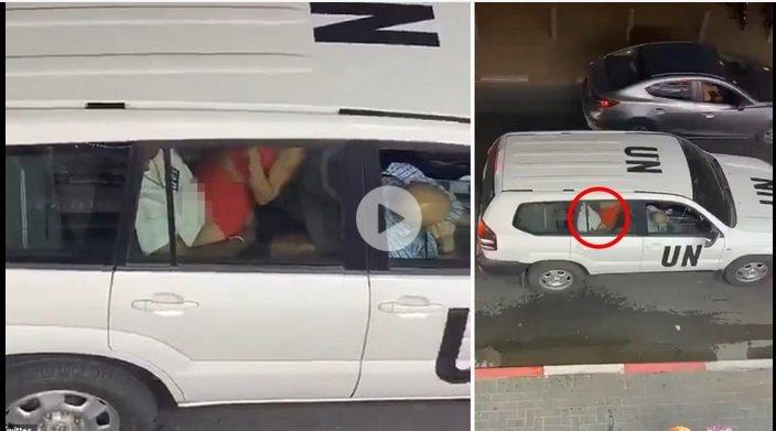 """""""Миротворци"""" от ООН награбиха магистралка в служебната кола (ШОК ВИДЕО)"""