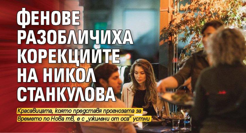 Фенове разобличиха корекциите на Никол Станкулова