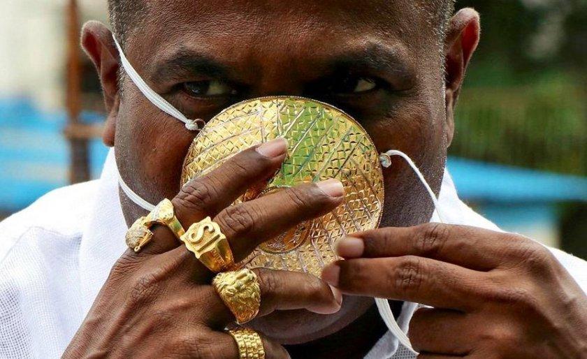 Индиец си поръча маска от злато срещу COVID-19