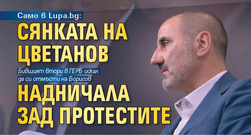 Само в Lupa.bg: Сянката на Цветанов надничала зад протестите