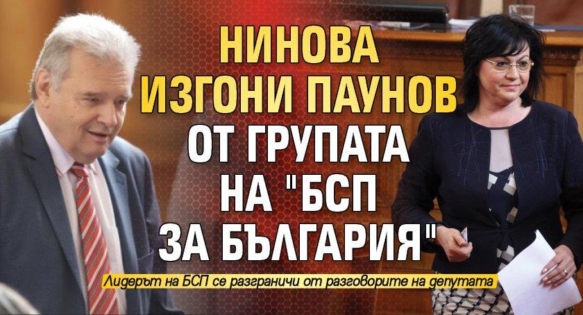 """Нинова изгони Паунов от групата на """"БСП за България"""""""