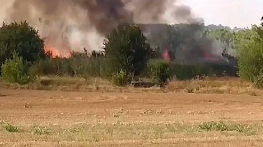Огънят при Лесово пое към турската граница