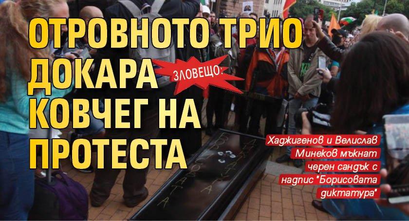 Зловещо: Отровното трио докара ковчег на протеста