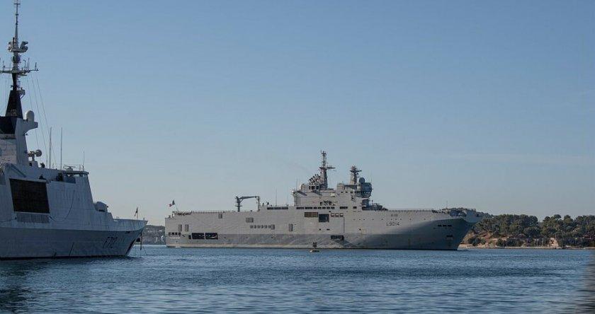 Франция с намек към Турция, праща бойни кораби в Средиземно море