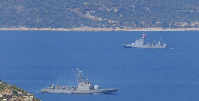 Гръцкият флот е в бойна готовност заради Турция
