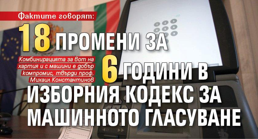 Фактите говорят: 18 промени за 6 години в Изборния кодекс за машинното гласуване