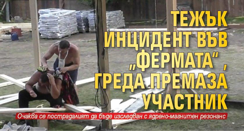 """Тежък инцидент във """"Фермата"""", греда премаза участник"""