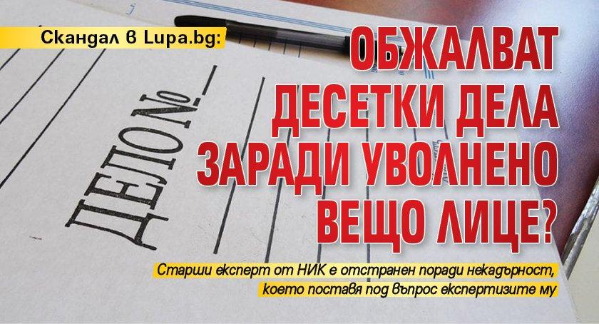 Скандал в Lupa.bg: Обжалват десетки дела заради уволнено вещо лице?
