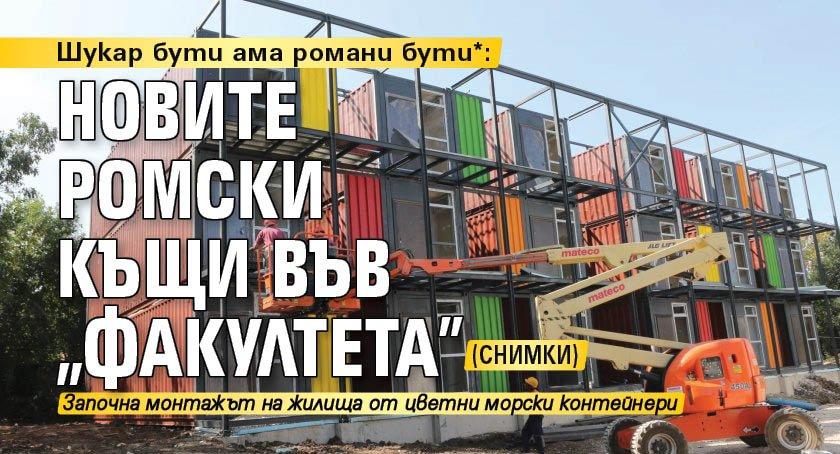 "Шукар бути ама романи бути*: Новите къщи във ""Факултета"" (снимки)"