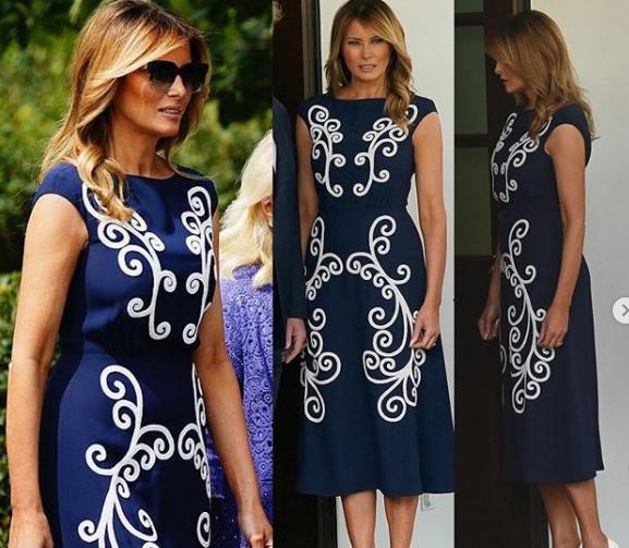 Мелания Тръмп впечатлява с рокля за 3700 долара