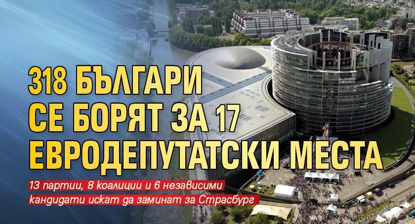 318 българи се борят за 17 евродепутатски места