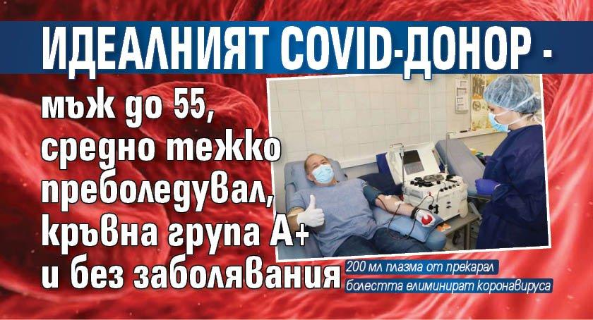 Идеалният COVID-донор - мъж до 55, средно тежко преболедувал, кръвна група А+ и без заболявания
