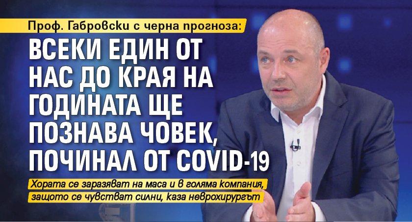 Проф. Габровски с черна прогноза: Всеки един от нас до края на годината ще познава човек, починал от COVID-19