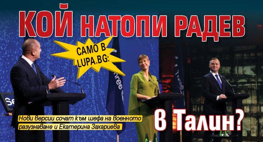Само в Lupa.bg: Кой натопи Радев в Талин?