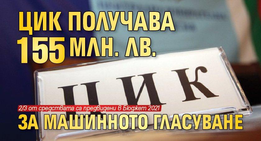 ЦИК получава 155 млн. лв. за машинното гласуване