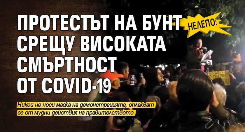 Нелепо: Протестът на бунт срещу високата смъртност от COVID-19